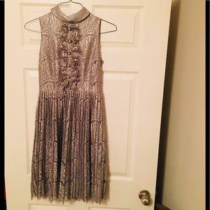 Grey metallic dress